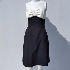 WHBM | Black & White Bow Dress size 2 semi formal
